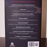 Obstacle to Peace back cover